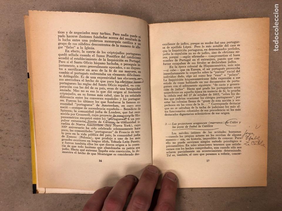 Libros de segunda mano: LOS JUDÍOS BAJO LA INQUISICIÓN EN HISPANOAMERICA. BOLESLAO LEWIN. EDITORIAL DÉDALO 1960. - Foto 4 - 168961868