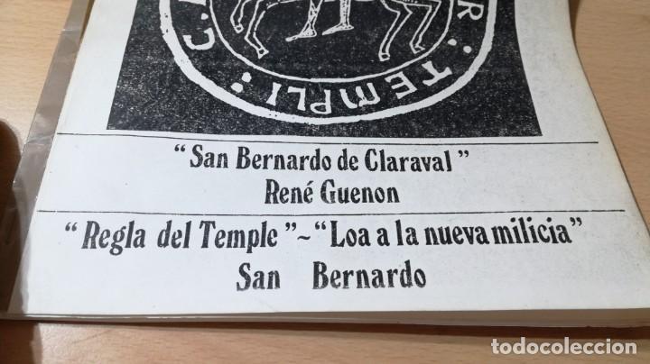 dossier orden del temple / san bernardo de - Comprar en todocoleccion -  169007972