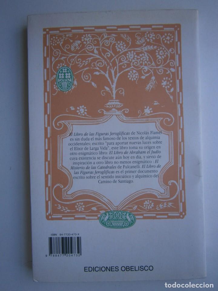 Libros de segunda mano: EL LIBRO DE LAS FIGURAS JEROGLIFICAS NICOLAS FLAMEL OBELISCO 1996 - Foto 4 - 169015996