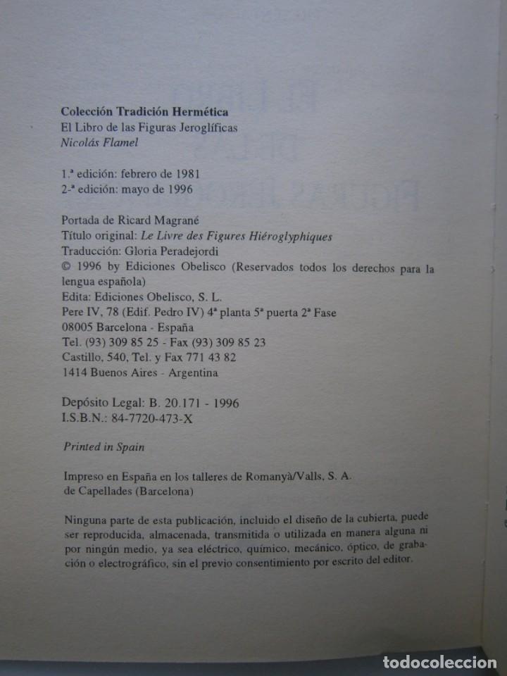 Libros de segunda mano: EL LIBRO DE LAS FIGURAS JEROGLIFICAS NICOLAS FLAMEL OBELISCO 1996 - Foto 10 - 169015996
