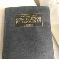 Livros em segunda mão: MANUAL DEL CONSTRUCTOR DE MAQUINAS TOMO II. Lote 169031252