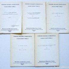 Libros de segunda mano: COMISARIA NACIONAL DE BIBLIOTECAS 1976 ESTUDIOS INFORMES Y NORMAS 1, 2, 3, 4, 5, 6, 7, 9 Y 19. Lote 169069212