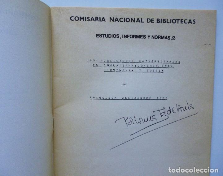 Libros de segunda mano: COMISARIA NACIONAL DE BIBLIOTECAS 1976 ESTUDIOS INFORMES Y NORMAS 1, 2, 3, 4, 5, 6, 7, 9 Y 19 - Foto 6 - 169069212