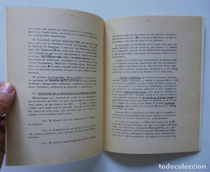 Libros de segunda mano: COMISARIA NACIONAL DE BIBLIOTECAS 1976 ESTUDIOS INFORMES Y NORMAS 1, 2, 3, 4, 5, 6, 7, 9 Y 19 - Foto 7 - 169069212