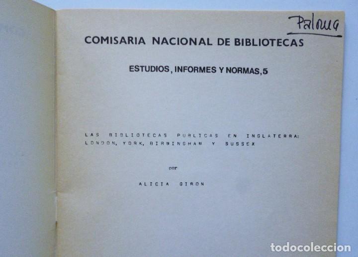 Libros de segunda mano: COMISARIA NACIONAL DE BIBLIOTECAS 1976 ESTUDIOS INFORMES Y NORMAS 1, 2, 3, 4, 5, 6, 7, 9 Y 19 - Foto 13 - 169069212