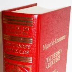 Libros de segunda mano: OBRAS COMPLETAS IX. DISCURSOS Y ARTÍCULOS - UNAMUNO, MIGUEL DE. Lote 169143972