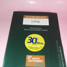 Libros de segunda mano: LIBRO-CÓDIGO CIVIL-FRANCISCO FERNÁNDEZ URZAINQUI-16ªEDICIÓN-2006-VER FOTOS. Lote 169216084