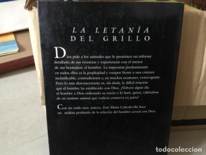 Libros de segunda mano: La letanía del grilloJose Maria Cabodevilla - Foto 2 - 169219036