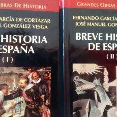 Libros de segunda mano: BREVE HISTORIA DE ESPAÑA DE FERNANDO GARCÍA DE CORTAZAR Y J.M. GONZALEZ VESGA (ALTAYA). Lote 169221864