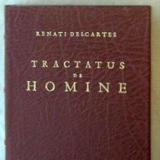 Libros de segunda mano: TRACTATUS DE HOMINE - RENE DESCARTES - ED. FACSIMIL 1994 - VER DESCRIPCIÓN Y FOTOS. Lote 169272820