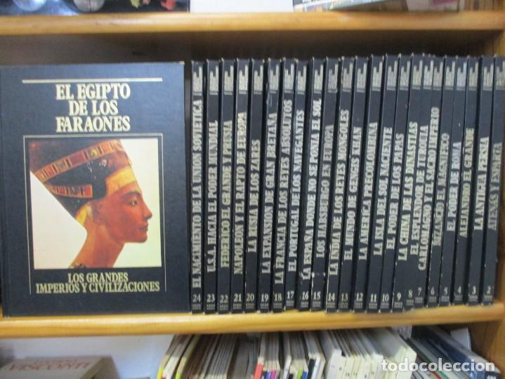 Libros de segunda mano: LOS GRANDES IMPERIOS Y CIVILIZACIONES - COLECCIÓN COMPLETA - 24 TOMOS - SARPE - Foto 2 - 169314116