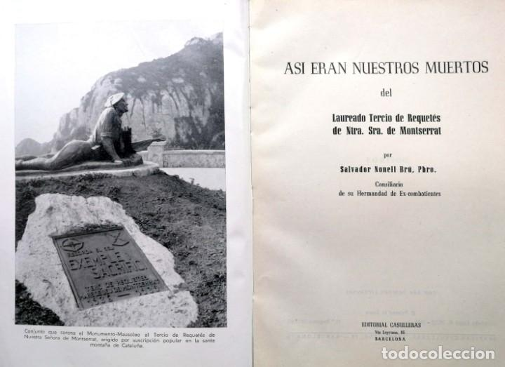 Libros de segunda mano: SALVADOR NONELL BRÚ (Pbro.). Así eran nuestros muertos. Barcelona. 1965. - Foto 2 - 169332816