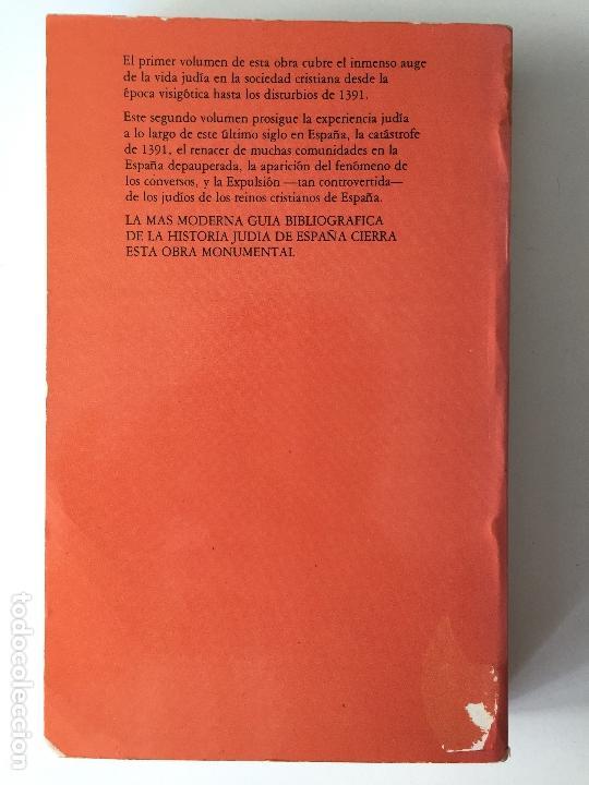 Libros de segunda mano: HISORIA DE LOS JUDIOS EN LA ESPAÑA CRISTIANA II 2 - YITZHAK BAER - ALTALENA - Foto 4 - 169348388