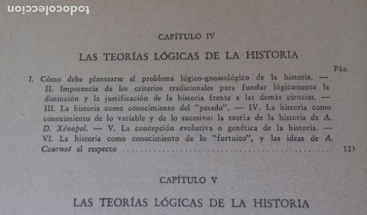 Libros de segunda mano: EL PROBLEMA DE LAS CIENCIAS HISTORICAS. ENRICO DE MICHELIS.ED. NOVA 1948. BUENOS AIRES. - Foto 6 - 169356412