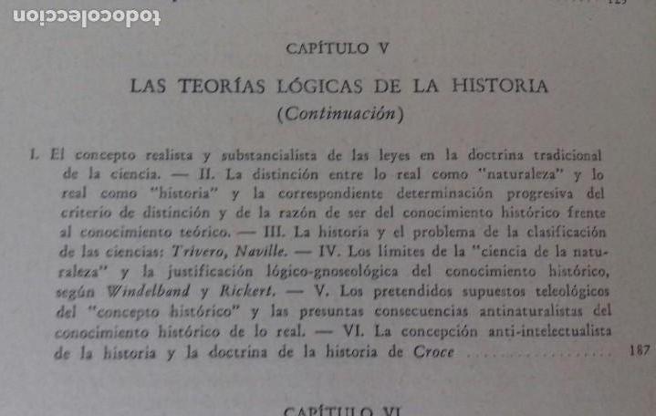 Libros de segunda mano: EL PROBLEMA DE LAS CIENCIAS HISTORICAS. ENRICO DE MICHELIS.ED. NOVA 1948. BUENOS AIRES. - Foto 7 - 169356412