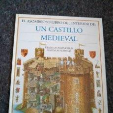 Livros em segunda mão: EL ASOMBROSO LIBRO DEL INTERIOR DE UN CASTILLO MEDIEVAL - MUY BUEN ESTADO D30. Lote 169375472