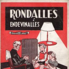 Libros de segunda mano: RONDALLES I ENDEVINALLES - EN CATALÁN - EDITORIAL ALAS.. Lote 169420600