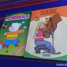 Libros de segunda mano: LIBRO PARA PINTAR. XENOS. REGALO JUGAMOS Y APRENDEMOS Nº 3 FORMAS. LIBSA 1995. . Lote 169435460
