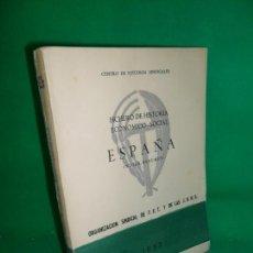 Libros de segunda mano: FICHERO DE HISTORIA ECONÓMICO-SOCIAL, ESPAÑA, ÍNDICE-RESUMEN, ED. FET Y JONS, 1957. Lote 169440512