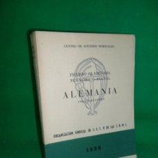 Libros de segunda mano: FICHERO DE HISTORIA ECONÓMICO-SOCIAL, ALEMANIA, ÍNDICE-RESUMEN, ED. FET Y JONS, 1958. Lote 169440760