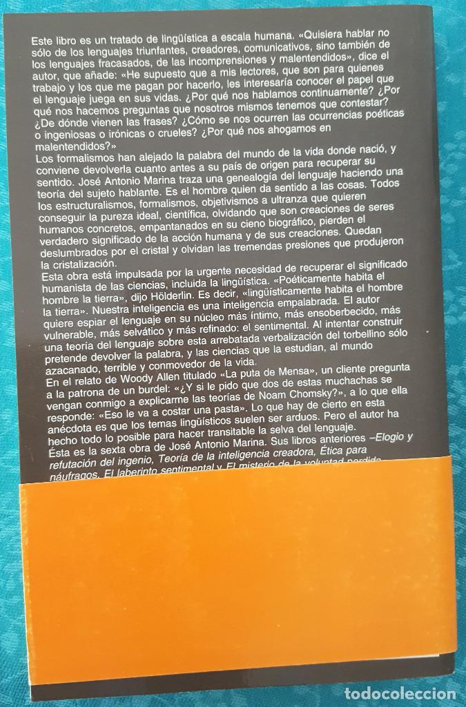 Libros de segunda mano: LA SELVA DEL LENGUAJE.INTRODUCCIÓN A UN DICCIONARIO DE LOS SENTIMIENTOS. JOSÉ ANTONIO MARINA - Foto 2 - 169472124