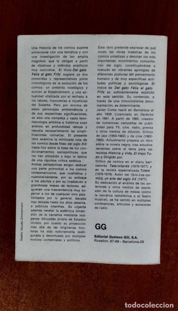 Libros de segunda mano: DEL GATO FELIX AL GATO FRITZ, Javier Coma - Foto 4 - 169665928