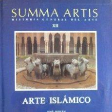 Libros de segunda mano: ARTE ISLAMICO - SUMMA ARTIS – HISTORIA GENERAL DEL ARTE – XII –– JOSE PIJOAN – ESPASA CALPE. Lote 169685312