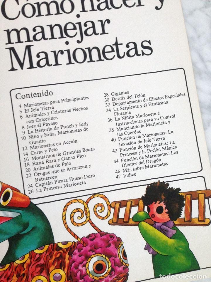Libros de segunda mano: CÓMO HACER Y MANEJAR MARIONETAS - PLESA - 1975 - 1ª EDICIÓN - Foto 3 - 169704212