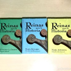 Libros de segunda mano: REINAS PARA LA HISTORIA - LOTE 3 TOMOS - PRECINTADOS. Lote 169919160