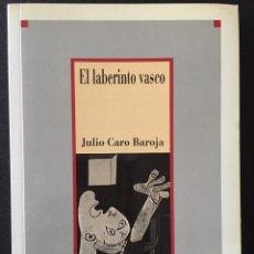 Libros de segunda mano: EL LABERINTO VASCO, JULIO CARO BAROJA. Lote 169921264