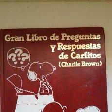 Libros de segunda mano: GRAN LIBRO DE PREGUNTAS Y RESPUESTAS DE CARLITOS (CHARLIE BROWN) VOLUMEN 4. Lote 169575200