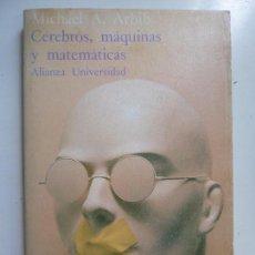 Libros de segunda mano: CEREBROS, MÁQUINAS Y MATEMÁTICAS. ARBIB. Lote 169967404