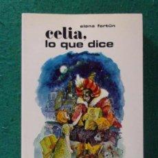 Libros de segunda mano: CELIA, LO QUE DICE / ELENA FORTÚN / AGUILAR. 1978. Lote 169985056
