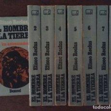 Libros de segunda mano: EL HOMBRE Y LA TIERRA. 8 TOMOS. ELISEO RECLUS. DONCEL. ELISEE.. Lote 169996720