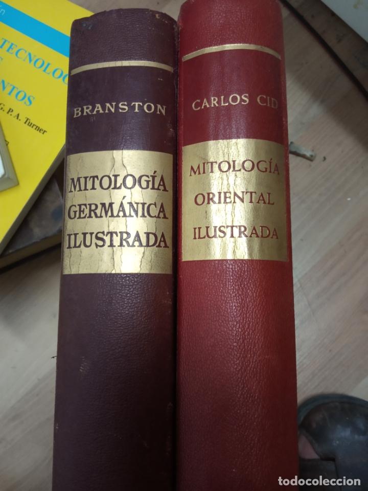 DOS TOMOS -MITOLOGIA ORIENTAL ILUSTRADA .Y MITOLOGIA GERMANICA ILUSTRADA (Libros de Segunda Mano - Bellas artes, ocio y coleccionismo - Otros)