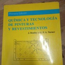 Libros de segunda mano: QUIMICA Y TECNOLOGIA DE PINTURAS Y REVESTIMIENTOS -A. MADRID VICENTE EDICIONES .. Lote 170016180