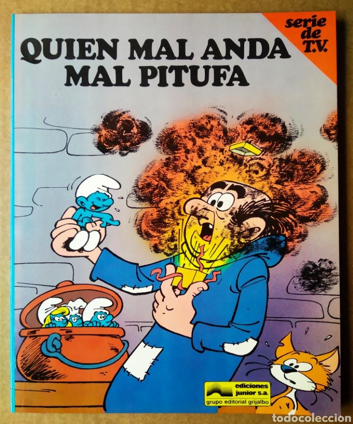 LOS PITUFOS/SERIE DE TV N°3: QUIEN MAL ANDA MAL PITUFA (JUNIOR/GRIJALBO, 1983). DIBUJOS DE PEYO. (Libros de Segunda Mano - Literatura Infantil y Juvenil - Otros)