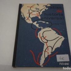 Libros de segunda mano: (2G) ATLAS DE HISTORIA UNIVERSAL / VICENS VIVES / EDITORIAL TEIDE. Lote 170057120