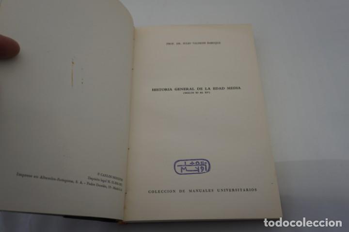 (3B) HISTORIA GENERAL DE LA EDAD MEDIA (SIGLOS XI AL XV) / VALDEON BARUQUE / MANUALES UNIVERSITARIOS (Libros de Segunda Mano - Historia - Otros)