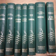 Libros de segunda mano: 7 TOMOS GRANDES FIGURAS HISTORICAS -EDITORIAL EXITO . Lote 170113164