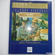 Libros de segunda mano: JULIET WILSON-BAREAU MANET POR SI MISMO. ARTE Y CULTURA .GRANDES PINTORES Y95006 . Lote 170177404