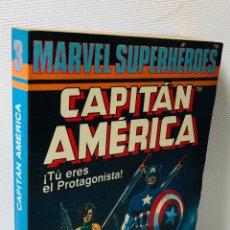 Libros de segunda mano: CAPITAN AMERICA ···MARVEL SUPERHEROES ·· TU ERES EL PROTAGONISTA · EL BRILLO ROJO DEL COHETE. Lote 170210052