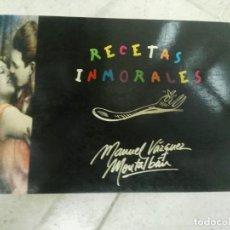 Libros de segunda mano: RECETAS INMORALES - MANUEL VÁZQUEZ MONTALBÁN . Lote 170214668