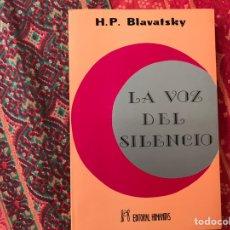 Libros de segunda mano: LA VOZ DEL SILENCIO. H. P. BLAVATSKY. BUEN ESTADO. Lote 170251341