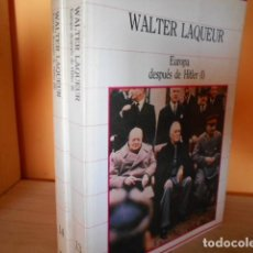Libros de segunda mano: EUROPA DESPUES DE HITLER / WALTER LAQUEUR / 2 TOMOS. Lote 170428400