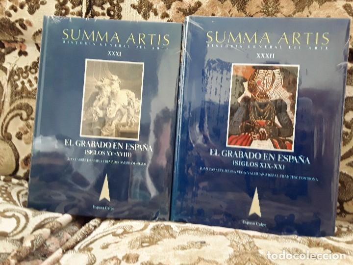 SUMMA ARTIS XXXI Y XXXII. EL GRABADO EN ESPAÑA. PRECINTADOS, COMO NUEVOS. (Libros de Segunda Mano - Bellas artes, ocio y coleccionismo - Otros)