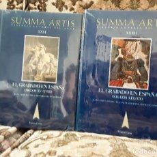 Libros de segunda mano: SUMMA ARTIS XXXI Y XXXII. EL GRABADO EN ESPAÑA. PRECINTADOS, COMO NUEVOS.. Lote 170440616