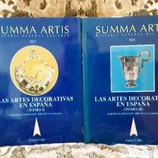 Libros de segunda mano: SUMMA ARTIS XVL (2 TOMOS). LAS ARTES DECORATIVAS EN ESPAÑA. EXCELENTE ESTADO. ALBERTO BARTOLOMÉ (CO. Lote 170451856
