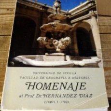 Libros de segunda mano: HOMENAJE AL PROFESOR DR. HERNÁNDEZ DÍAZ. TOMO I, 1982.. Lote 170482300