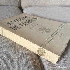 Libros de segunda mano: M.T. CICERON, DE LEGIBUS. LAS LEYES. INSTITUTO DE ESTUDIOS POLÍTICOS 1953. PRIMERA EDICIÓN BILINGÜE. Lote 170531448